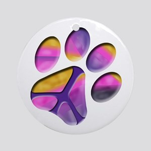 Peaceful Paw Print Ornament (Round)