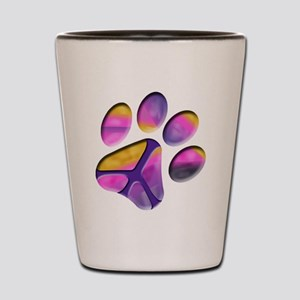 Peaceful Paw Print Shot Glass