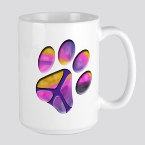 Peaceful Paw Print Mug