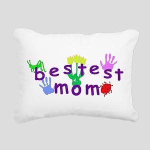 Bestest Mom Rectangular Canvas Pillow
