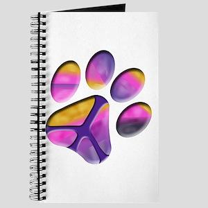Peaceful Paw Print Journal