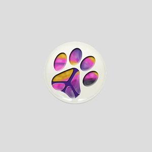 Peaceful Paw Print Mini Button