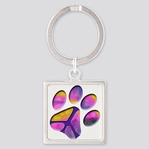 Peaceful Paw Print Keychains