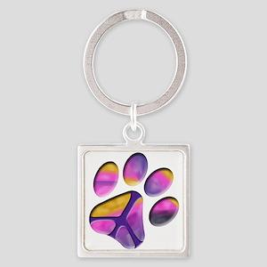Peaceful Paw Print Keychains