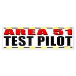 Area 51 Test Pilot Bumper Sticker