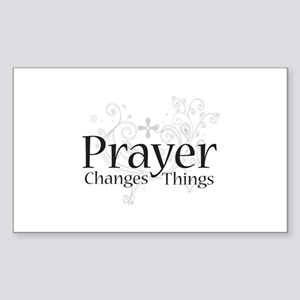 Prayer Changes Things Rectangle Sticker