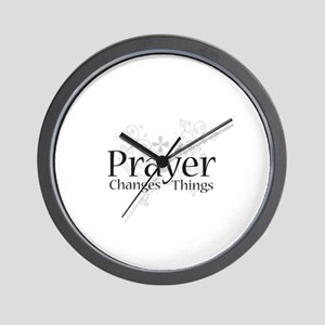 Prayer Changes Things Wall Clock