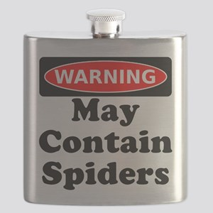 May Contain Spiders Flask