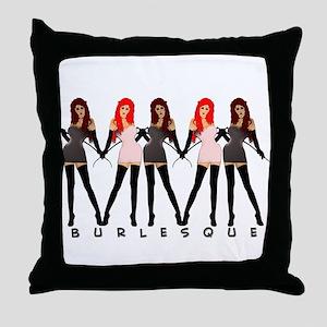 Burlesque Dancers Throw Pillow
