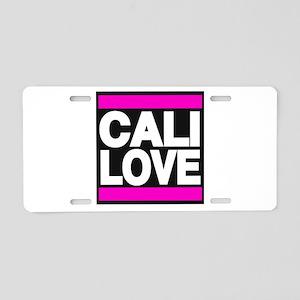 cali love pink Aluminum License Plate