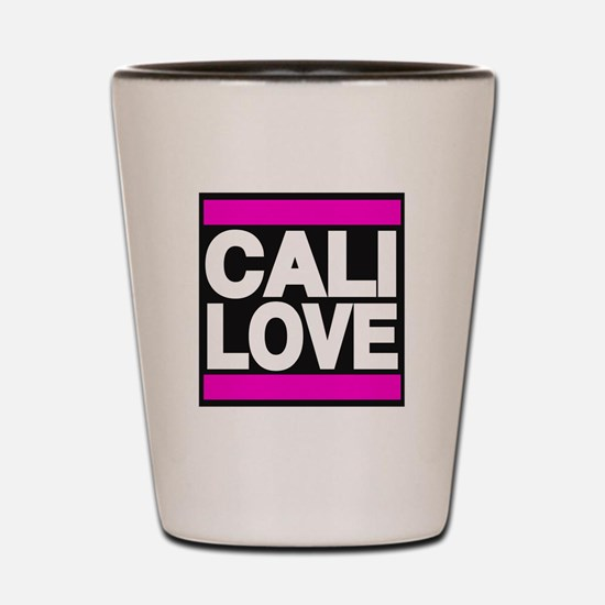 cali love pink Shot Glass