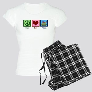 Peace Love Veteran Women's Light Pajamas