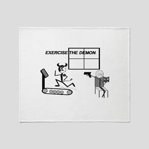 Exercise the Demon Throw Blanket