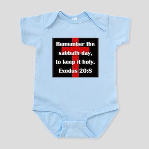 Exodus 20:8 Infant Bodysuit