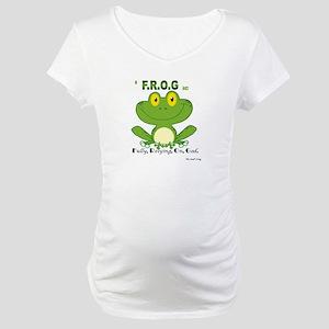 F.R.O.G. Fully, Relying,On,God Maternity T-Shirt