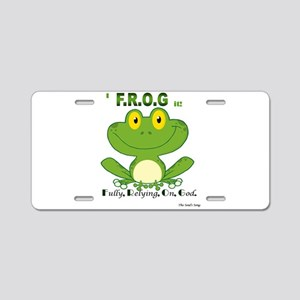 F.R.O.G. Fully, Relying,On,God Aluminum License Pl