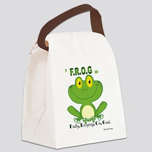 F.R.O.G. Fully, Relying,On,God Canvas Lunch Bag