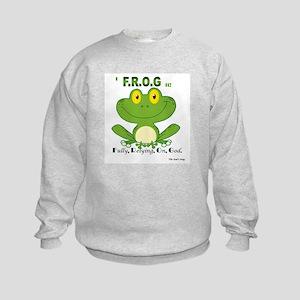 F.R.O.G. Fully, Relying,On,God Sweatshirt