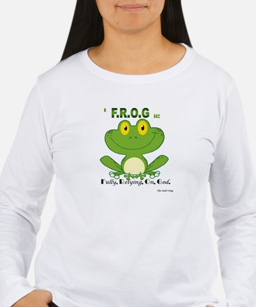 F.R.O.G. Fully, Relying,On,God Long Sleeve T-Shirt