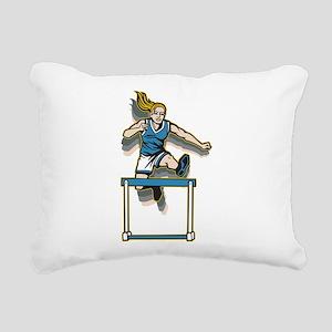 Women's Hurdles Rectangular Canvas Pillow