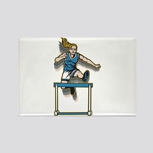 Women's Hurdles Rectangle Magnet