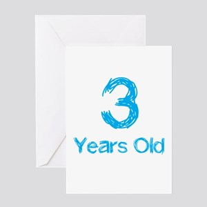 3 Years Old Greeting Card