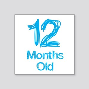 12 Months Old Baby Milestones Sticker