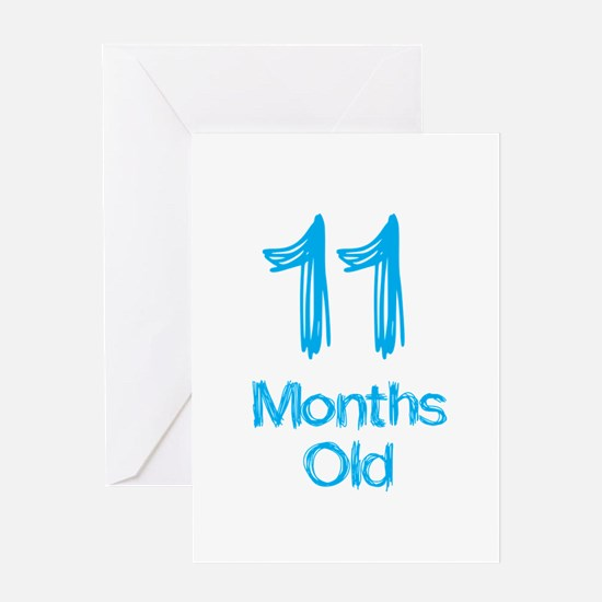 11 Months Old Baby Milestones Greeting Card