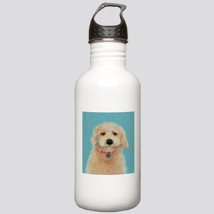 Cream Labradoodle Water Bottle