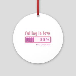Falling in love percentage Ornament (Round)
