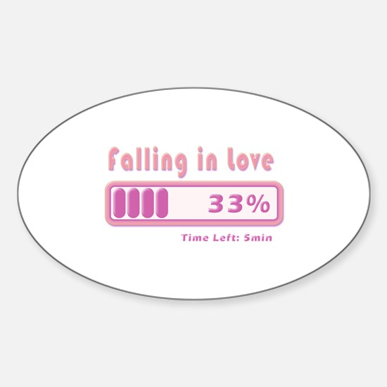 Falling in love percentage Decal