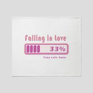 Falling in love percentage Throw Blanket