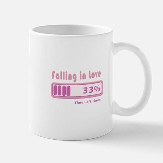 Falling in love percentage Mug