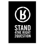 Large Stand Up! Poster - Black