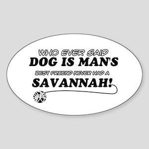 Savannah Cat designs Sticker (Oval)
