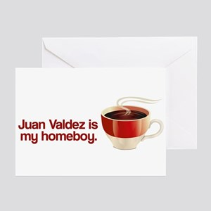 Juan Valdez is my Homeboy Greeting Cards (Package