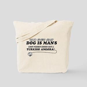 Turkish Angora Cat designs Tote Bag