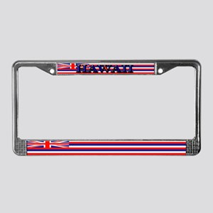Hawaii Hawaiian Blank Flag License Plate Frame
