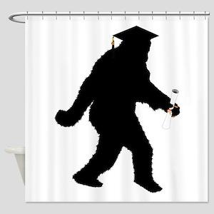 Graduation Sasquatch Shower Curtain