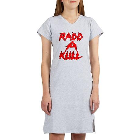 rRADICAL = RADD-A-KULL RedBlack Women's Nightshirt