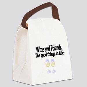 Wine and Friends. The good things in Life. Canvas