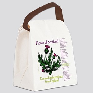 Flower Canvas Lunch Bag