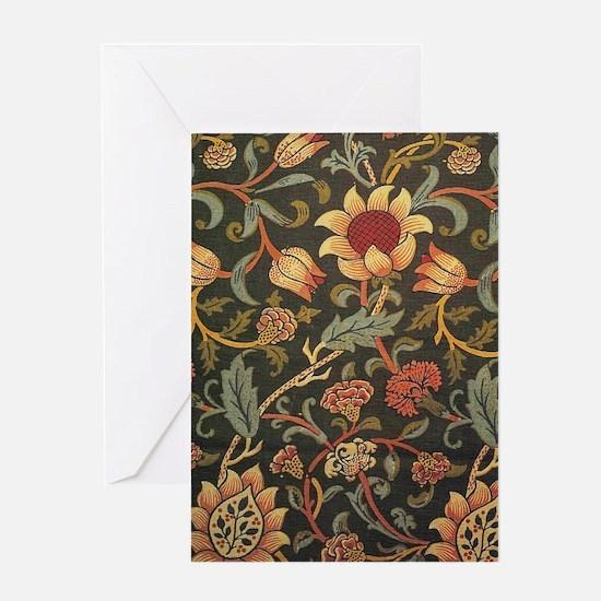 William Morris Evenlode design Greeting Card