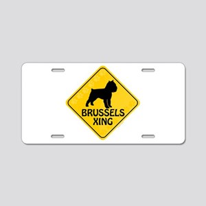 Brussels Xing Aluminum License Plate