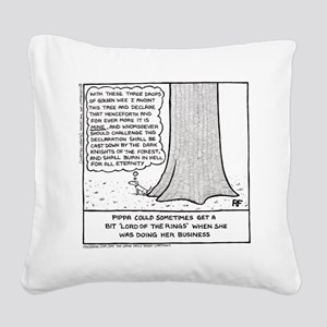 Pippa In The Woods - Square Canvas Pillow