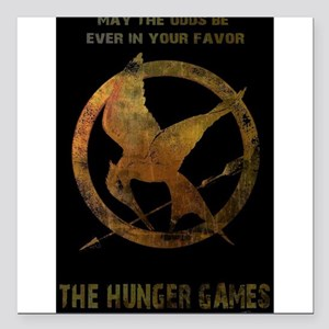 """the hunger games Square Car Magnet 3"""" x 3"""""""