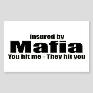 Mafia Insurance Rectangle Sticker