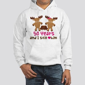 50th Anniversary Moose Hooded Sweatshirt