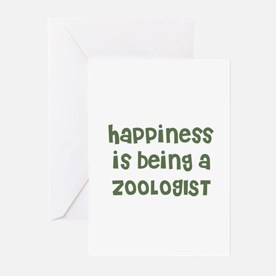 Happiness is being a ZOOLOGIS Greeting Cards (Pack