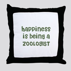 Happiness is being a ZOOLOGIS Throw Pillow